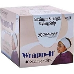 Graham Professional Wrapp-It Styling Strips,  White