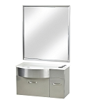 Pibbs PB52W Stainless steel station with mirror and white stone top White Only!
